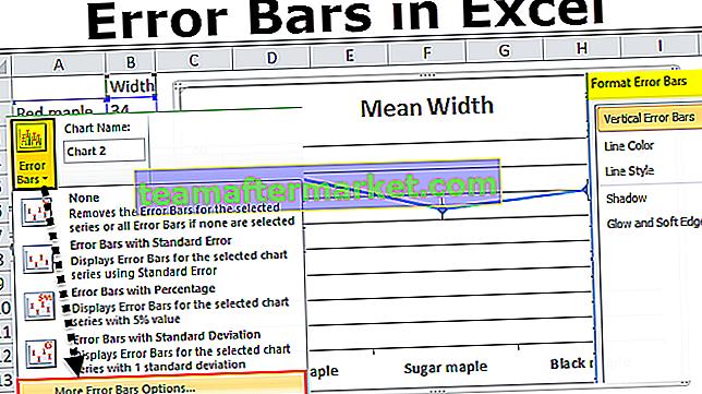 Fehlerbalken in Excel