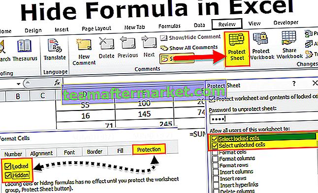 Ukryj formułę w programie Excel
