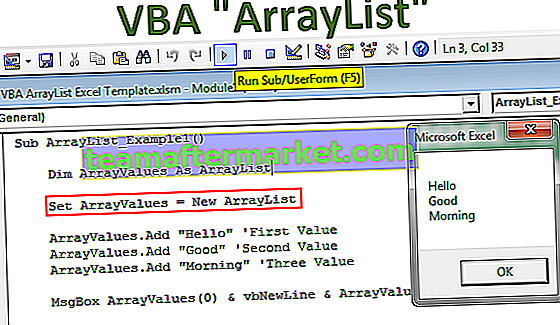 VBA ArrayList