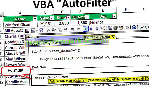 Filtre automatique VBA