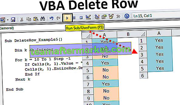 Supprimer la ligne VBA