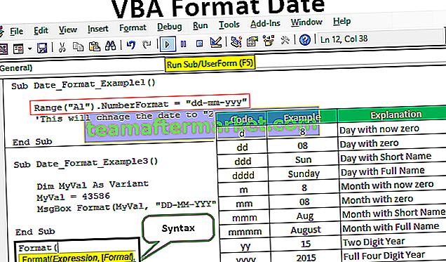 Datum des VBA-Formats
