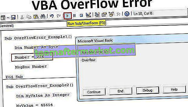 Errore di overFlow VBA