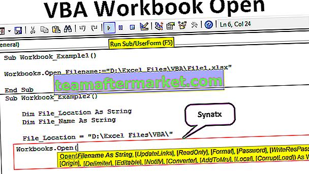 Cartella di lavoro VBA aperta