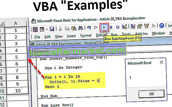 Exemples VBA