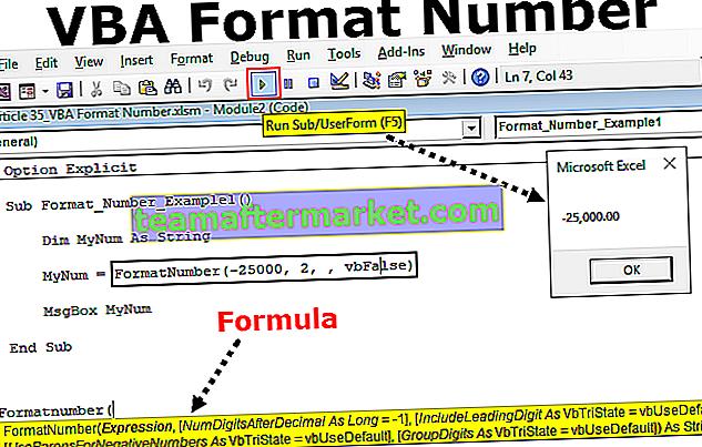 Numéro de format VBA