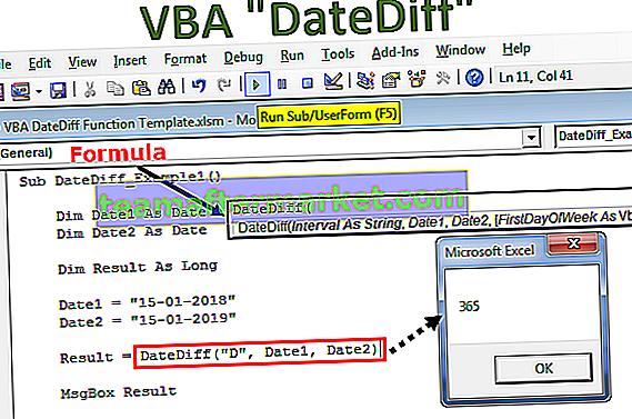 Fonction VBA DateDiff