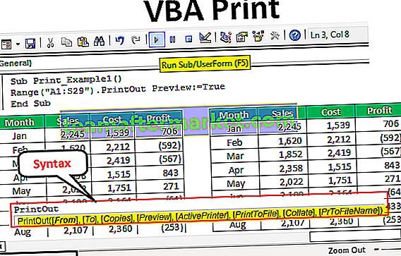 Impression VBA