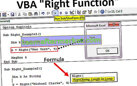 Funzione VBA Right