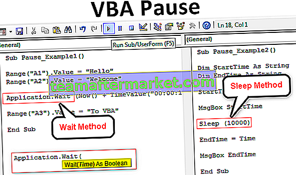 VBA-Pause