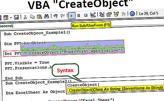 VBA CreateObject