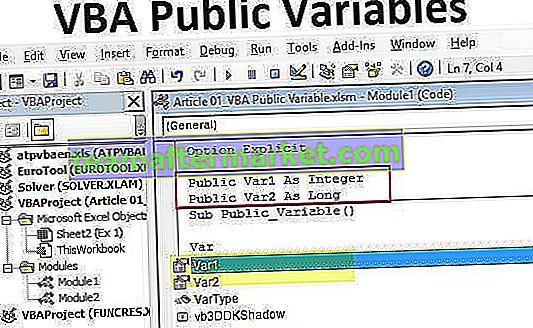 Öffentliche VBA-Variablen