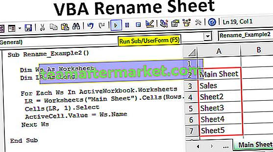 VBA Rename Sheet