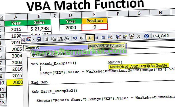 VBA Match