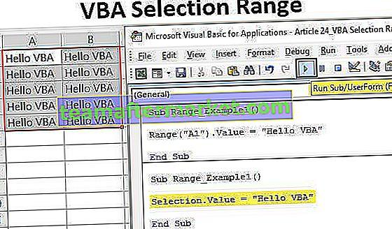 VBA-Auswahlbereich