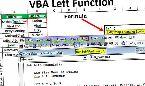 VBA Left Funktion