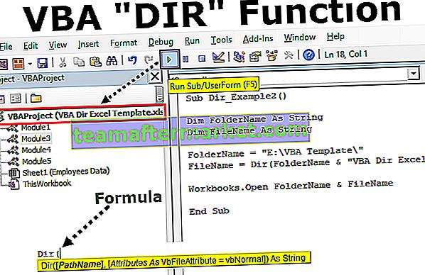 Funkcja VBA DIR