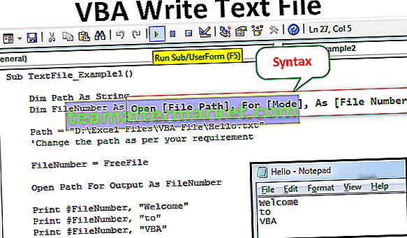 VBA Write Text File