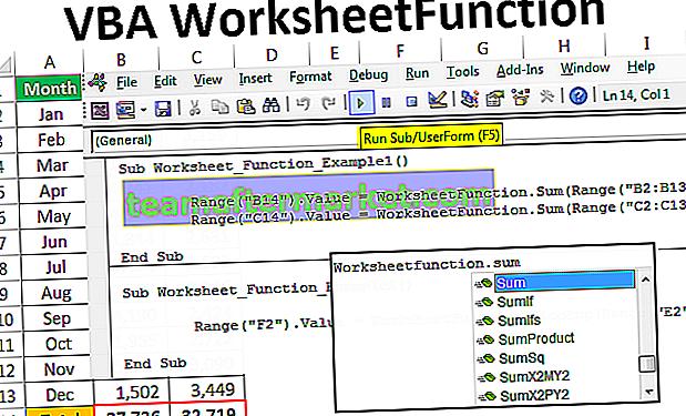 VBA-Arbeitsblattfunktion