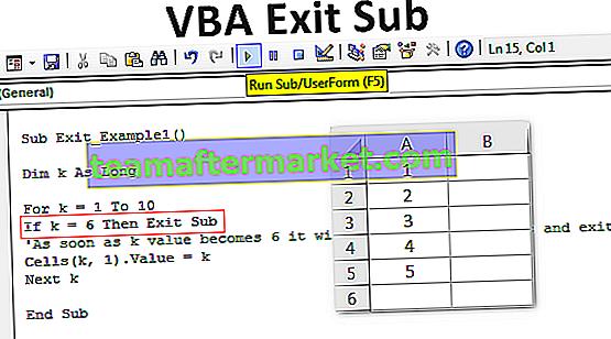VBA Exit Sub