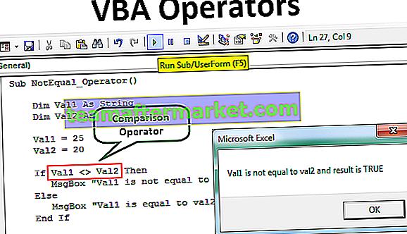 VBA-Operatoren