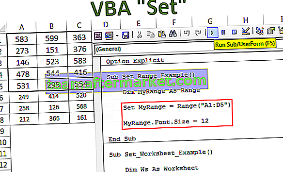 VBA Set-Anweisung