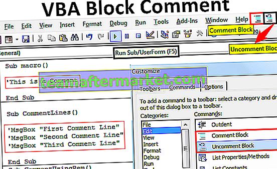 VBA-Kommentarblock