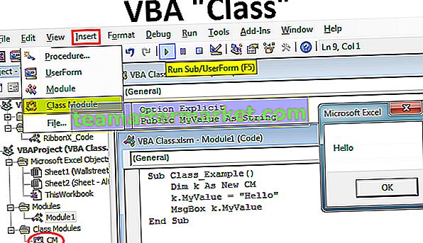 Moduli di classe VBA
