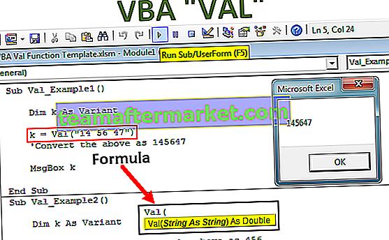 VBA Val Funktion