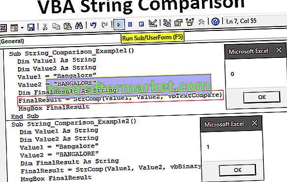 Perbandingan String VBA