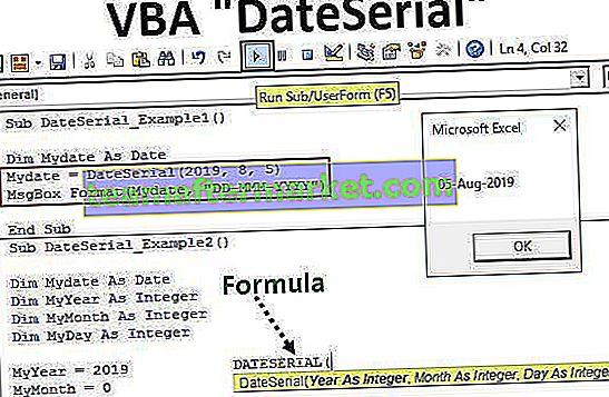 VBA DateSerial