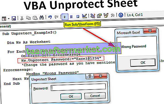 VBA UnProtect Sheet