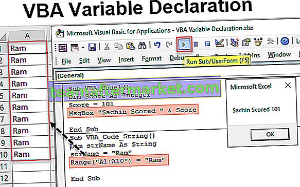 VBA-Variablendeklaration