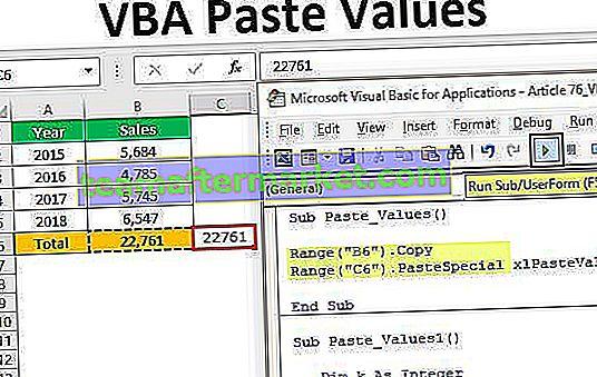 VBA-Werte einfügen
