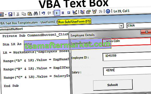 VBA TextBox
