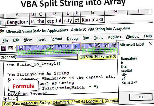 VBA Split String in Array