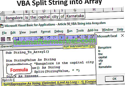 VBA Split String in Array