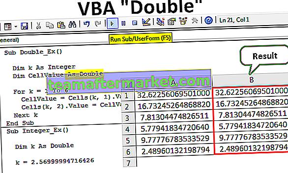 VBA Double