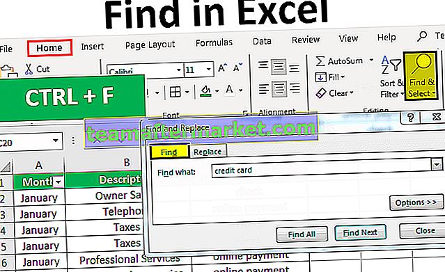 Zoek en selecteer in Excel