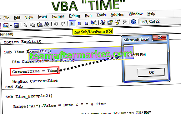 VBA-tijdfunctie