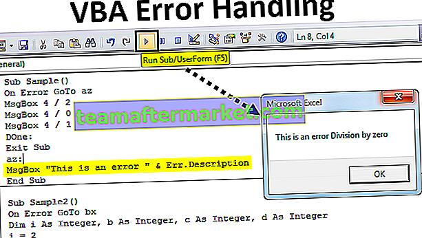 Gestione degli errori VBA