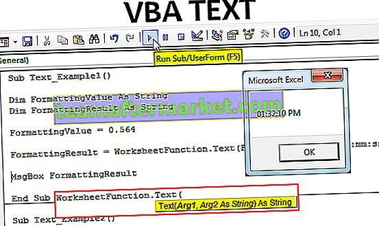 Texte VBA