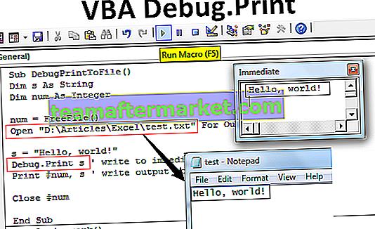 Impression de débogage VBA