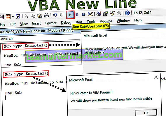 Nouvelle ligne VBA