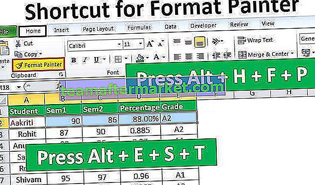 Raccourci pour Format Painter dans Excel