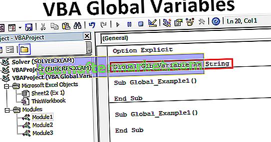 Variables globales VBA