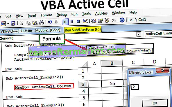 Cellule active VBA