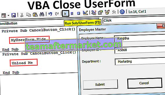 VBA Fermer UserForm