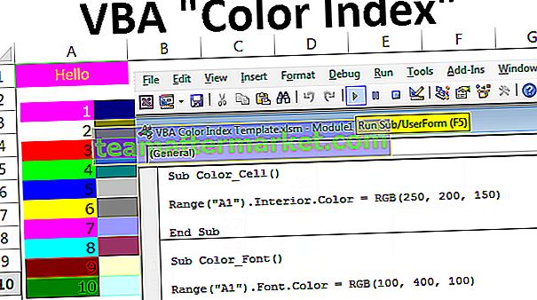 Index des couleurs VBA
