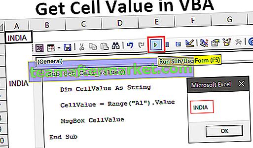 Ottieni il valore della cella in Excel VBA